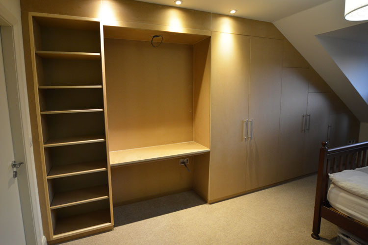 Hand built contemporary style attic wardrobe