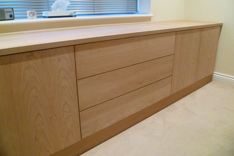 Fitted Cherry bedroom cabinet