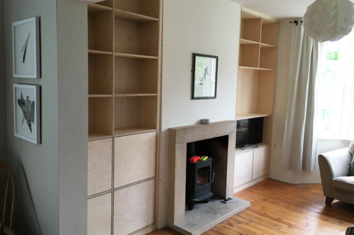 Alcove Plywood Shelving