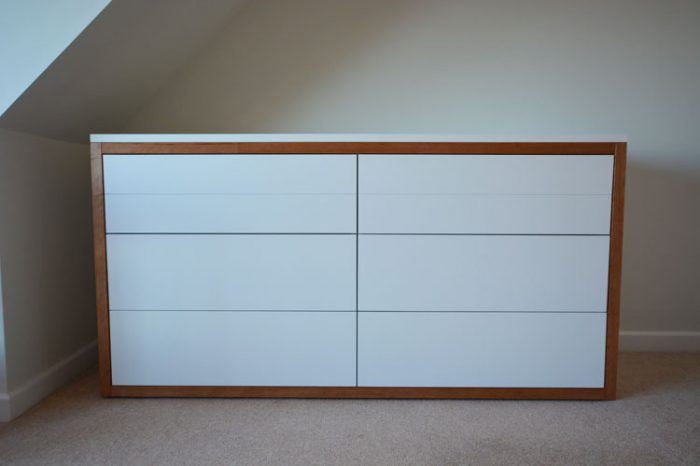Cherrywood trim bespoke bedroom furniture Bristol