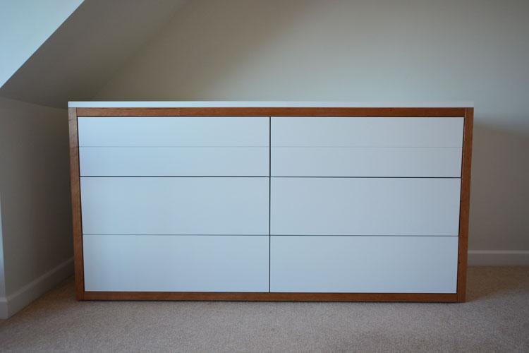 Cherrywood trim bespoke bedroom furniture Bristol