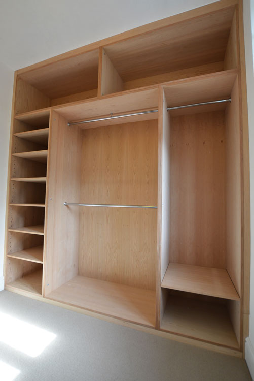 Fitted Cherry wood wardrobe
