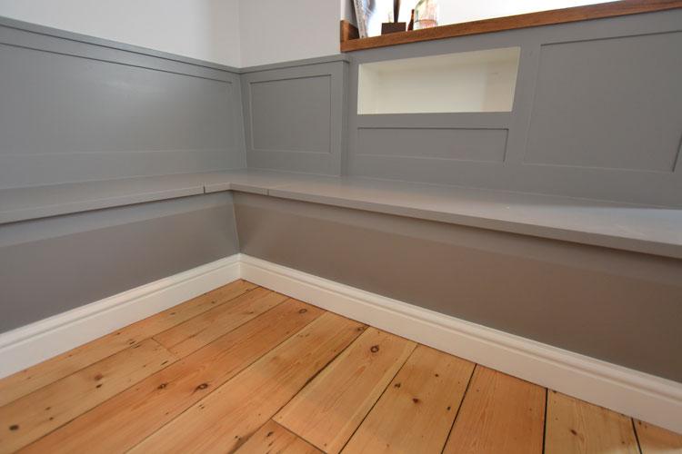 Bespoke kitchen dining seating   storage