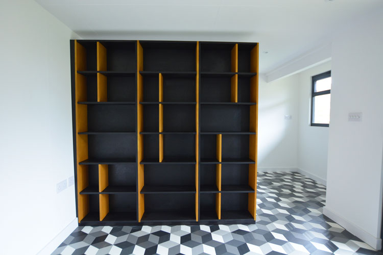 Studio shelving room divider