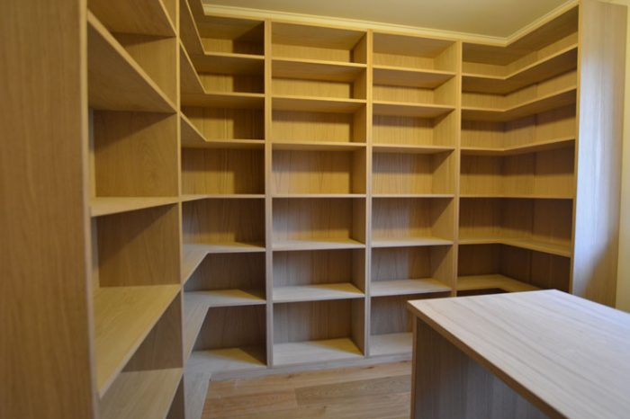 Bespoke Oak study with open shelving