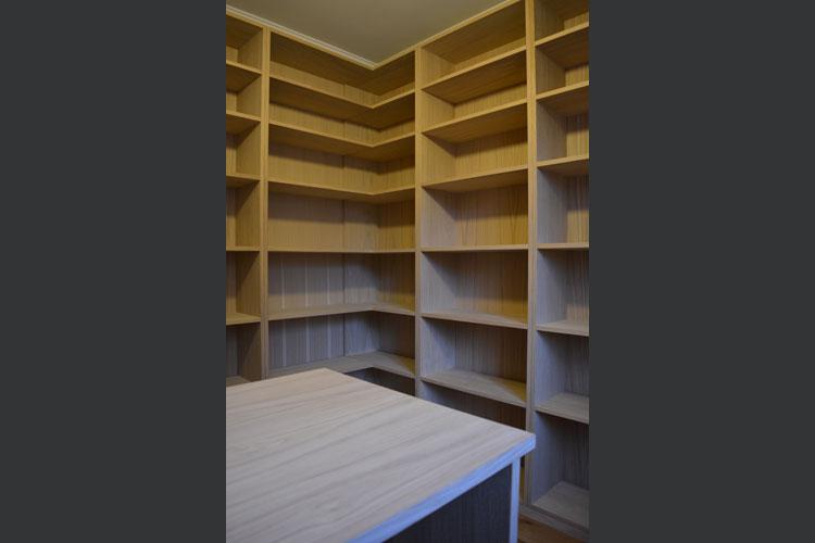 Bespoke Oak study with open shelving