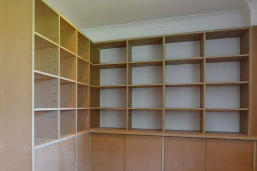 Made to measure study storage | room divider