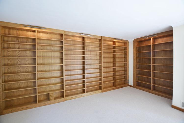 Library Wall Oak