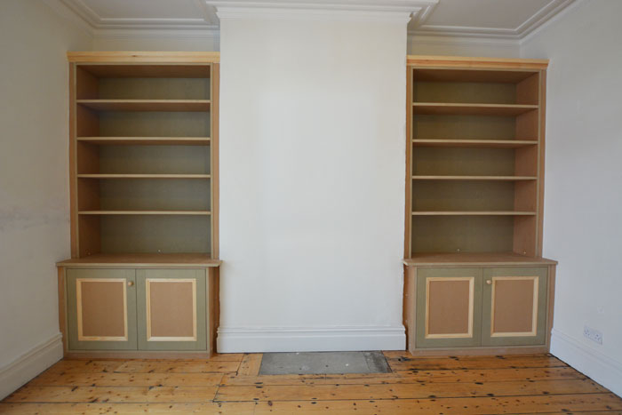 Traditional Bespoke Alcove Shelving Amp Bookcase Bristol
