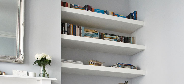 Floating Alcove Shelving