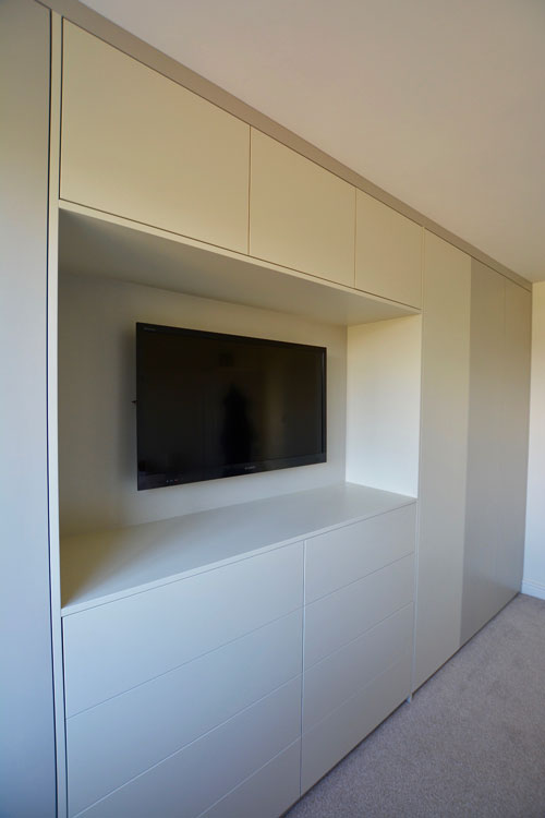 contemporary fitted wardrobe