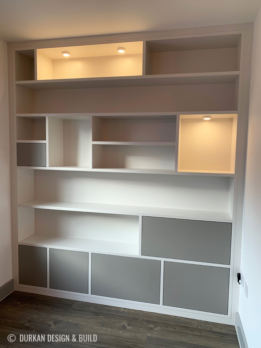Bespoke Bookcase with painted doors