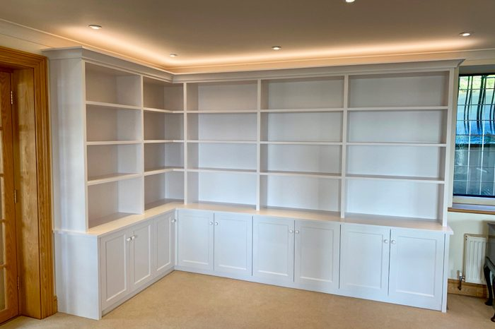 Library shelving and cupboards