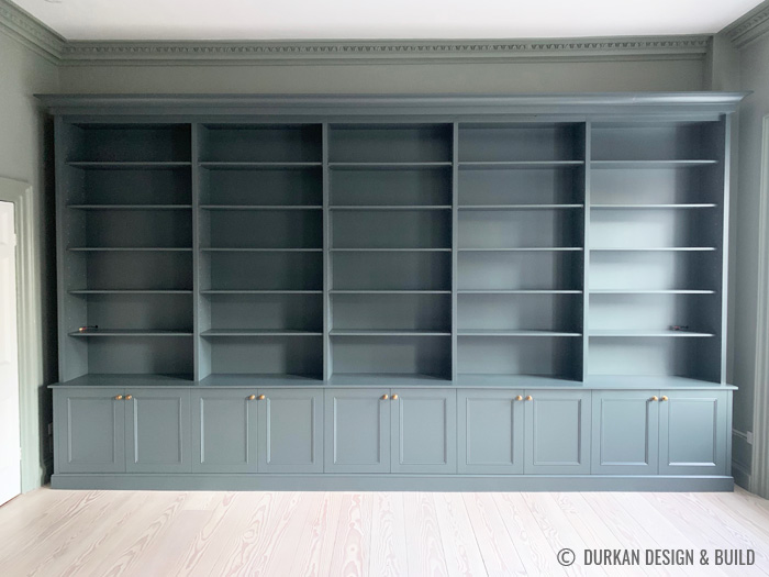 Traditional library bookcase