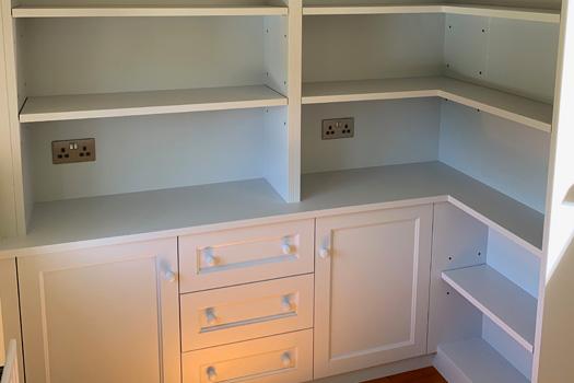Study corner storage