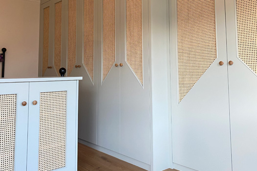 Rattan Panel Wardrobes