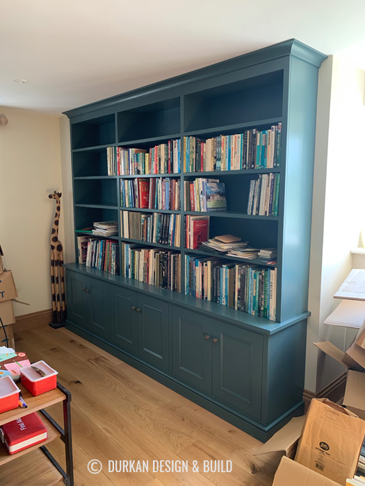 Study bookcase and cabinet